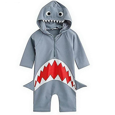 Cosplay Shark Overall Hooded Boys Swimsuits Home Kids Now Apparel