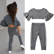 Crop Top And Pants Fall Outfits For Toddler Girl Clothing Sets Kids Now Apparel