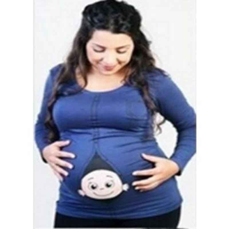 8a8d8d36b3127 Baby Peeking Out Of Belly Funny Maternity Shirts | Kids Now Apparel