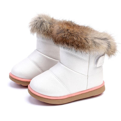 Cute Faux Fur Girl Snow Boots Kids Now Apparel