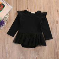 Cute Lace Ruffles Tulle Baby Long Sleeve Rompers Kids Now Apparel