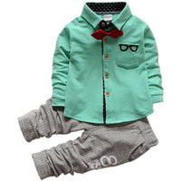 Cute Suit+Pants Baby Boy Clothing Sets Kids Now Apparel