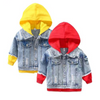 Denim Jacket With A Hoodie Jeans Jacket For Kids Jackets & Coats Kids Now Apparel