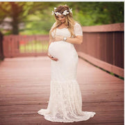 Elegant Lace Mermaid Gown Maxi Pregnancy Dresses Kids Now Apparel