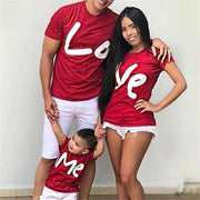 Family Matching Shirts Love Print T Shirt- Red Matching Family Outfits Kids Now Apparel