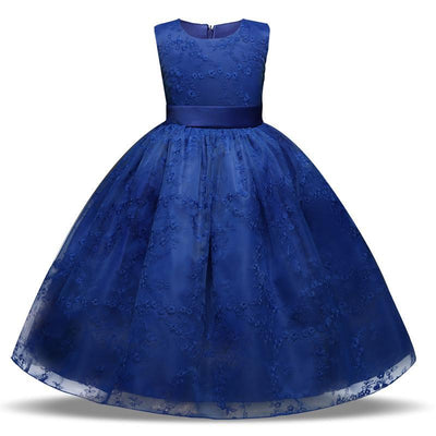 Flower Embroidered Kids Lace Formal Dress Kids Now Apparel