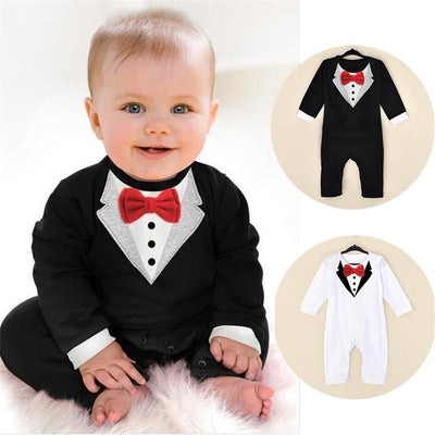 Gentleman Illusion Suit Baby Boy Overalls Kids Now Apparel