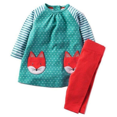 Girl Printed Top + Pants Clothing Set Clothing Sets Kids Now Apparel