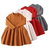 Girls Knitted Dress Long Sleeve Winter Dress Dresses Kids Now Apparel