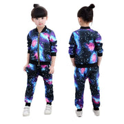 Girls Tracksuit Galaxy Print Clothing Clothing Sets Kids Now Apparel