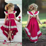 High Low Dress  Little Girls Summer Dresses - Red Dresses Kids Now Apparel
