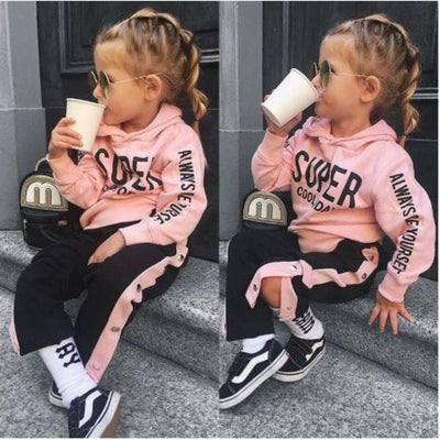 Hoodie Sweatshirt Long Trackpants Toddler Girl Sets Clothing Sets Kids Now Apparel
