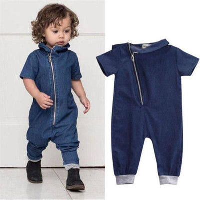 Kids Denim Jumpsuit Rompers Kids Now Apparel