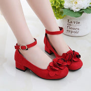 Kids Leather Shoes Little Girl High Heel Party Shoes Shoes Kids Now Apparel