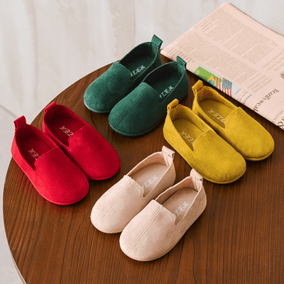 Kids Slip On Shoes Round Toe Sneakers Girls Flat Shoes Sneakers Kids Now Apparel