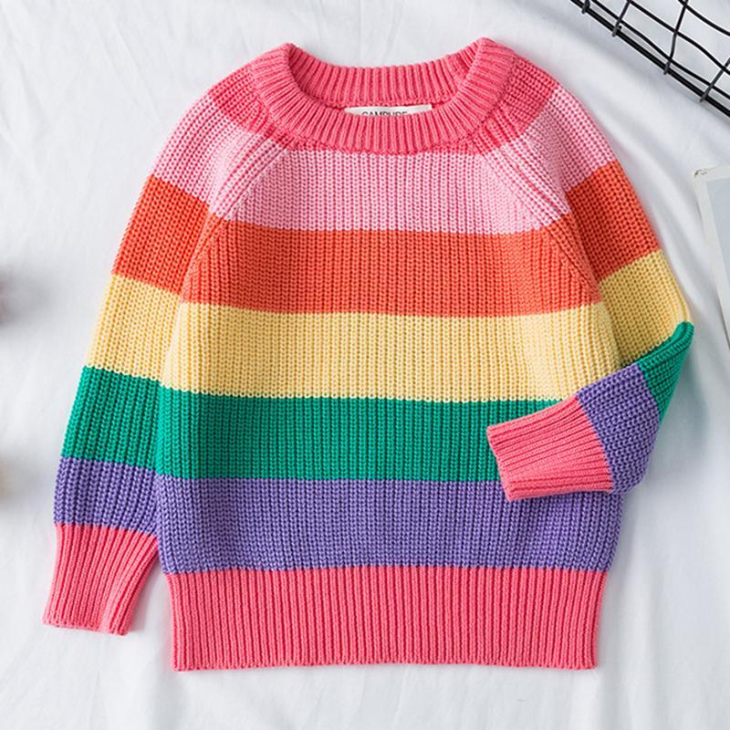 Kids Sweatshirt Knitted Top Girls Winter Sweater Sweaters Daisy Dress For Less