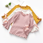 Kids Top Ruffle Hem Long Sleeve Flare Shirt Tees Kids Now Apparel
