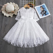 Lace Dress For Toddler Three quarter Sleeve Lace Dress Dresses Kids Now Apparel