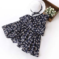 Layer Pleated Chiffon Girls Flower Summer Dresses Kids Now Apparel