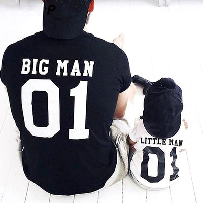 Letter Print Father Son Matching Shirts Matching Family Outfits Kids Now Apparel