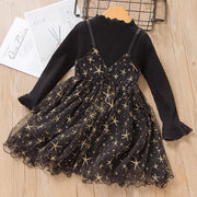 Long Sleeve Glitter Dress Star Dress For Baby Girl Dresses Kids Now Apparel