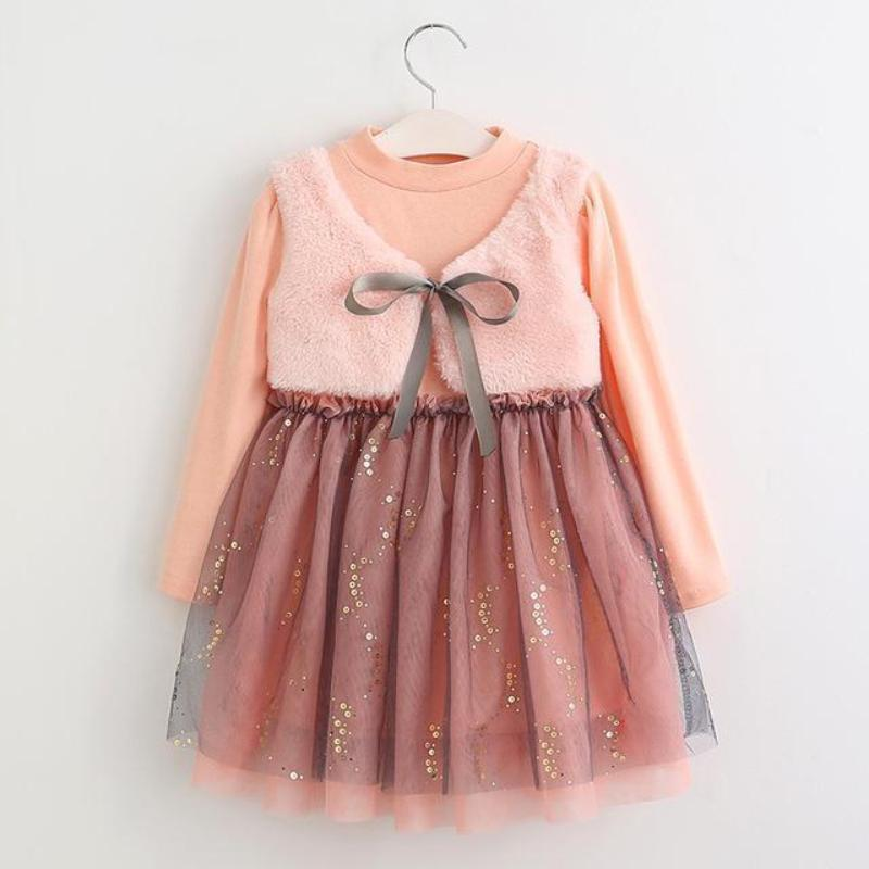 Long Sleeve Kids Lace Dress Dresses Kids Now Apparel