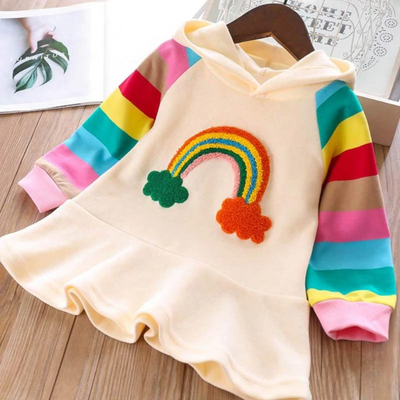 Long Sleeve Winter Dress Hooded Kids Dress Dresses Kids Now Apparel