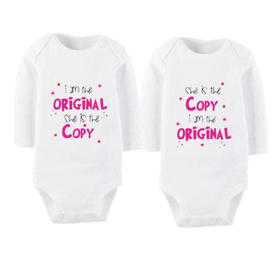 Long Sleeves Printed Cotton  Twins Baby Clothing Sets Kids Now Apparel