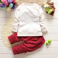 Long Sleeves Top + Pants Plaid Print Baby Boys Clothes Sets Clothing Sets Kids Now Apparel