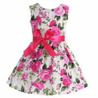 Lovely Floral Print Summer Cotton Toddler Girl Dresses Kids Now Apparel