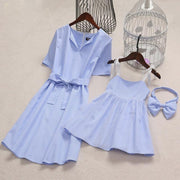 Matching Dresses For Bbaby And Mom Striped Dress Blue Matching Family Outfits Kids Now Apparel