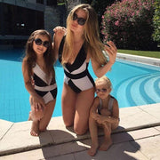 Matching Swimsuits For Mom And Daughter Patchwork Swimwear Matching Family Outfits Kids Now Apparel
