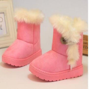 Non-Slip Faux Fur Round Toe Girls Flat Snow Boots Boots Kids Now Apparel