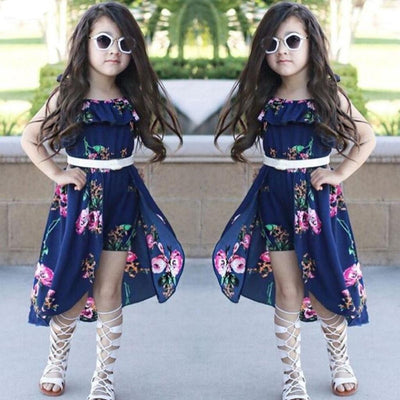 Off Shoulder Floral Print Romper Dress For Girls Dresses Kids Now Apparel