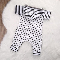Patchwork Cross Stripe Printed Jumpsuits For Toddler Kids Now Apparel