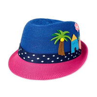 Patchwork Straw Outdoor Summer Baby Girl Sun Hat Hats & Caps Kids Now Apparel