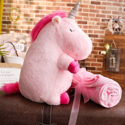 Plush Toy With Blanket Two In One Unicorn Stuff Stuffed & Plush Animals Kids Now Apparel
