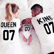 Queen, King, Princess, Prince, Family Matching Tees Kids Now Apparel