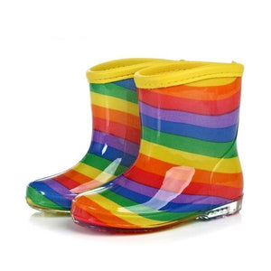 Rainbow Stripe Jelly Colorful Best Rain Boots For Toddlers Boots Kids Now Apparel