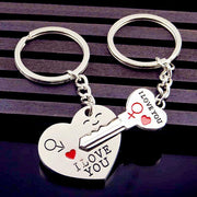 Romantic Heart Key Trinket Jewelry Gift For Couple Kids Now Apparel