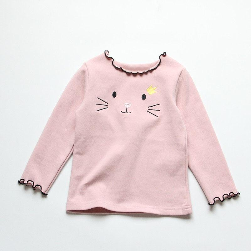 Shirts For Teenage Girl Long Sleeve Top Cat Print Sweater Sweaters Kids Now Apparel