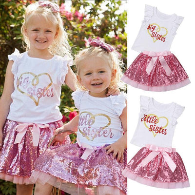 Sisters Matching Outfits Big Little Sister Clothing Sets Matching Family Outfits Kids Now Apparel