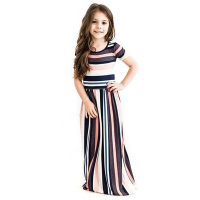 Striped Dress Short Sleeve Maxi Summer Dresses For Teenage Girls Dresses Daisy Dress For Less