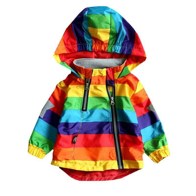 Striped Hooded Jackets Zip Up Toddler Spring Coat Jackets & Coats Kids Now Apparel