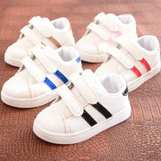 Striped Leather Sportsgirl Shoes Girls Slip On Sneakers Sneakers European Children Clothes Store