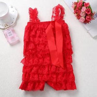 Stylish Ruffle Elastic Baby Girl Lace Rompers Kids Now Apparel