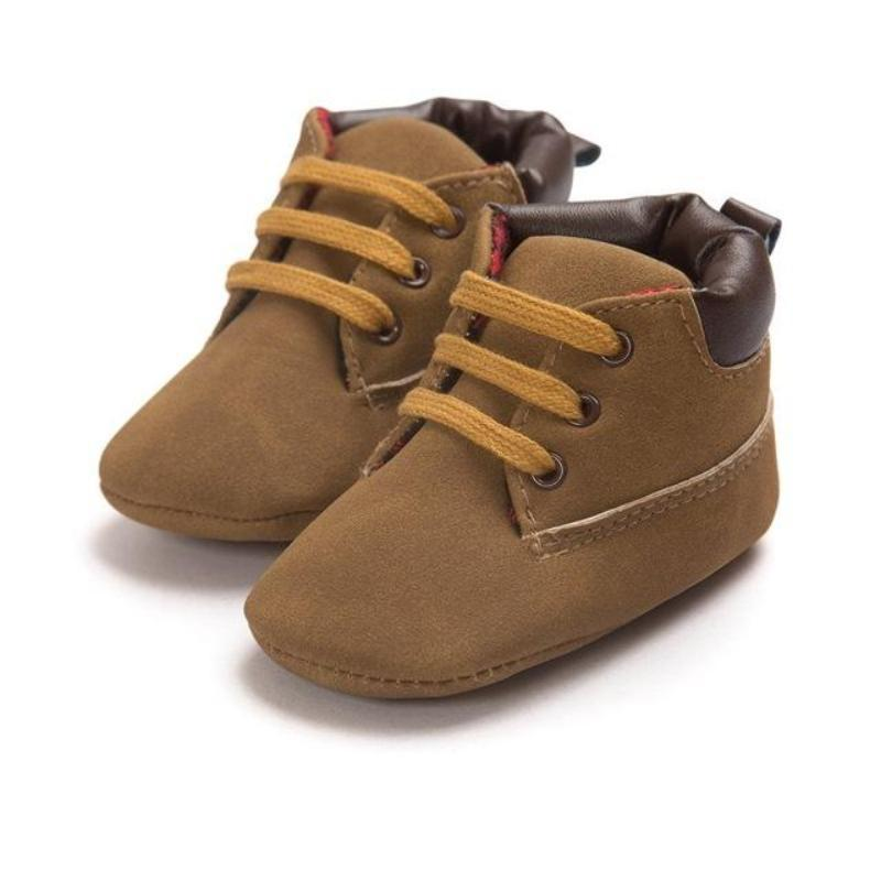 ccc897da7 Suede Lace Up Toddler Soft Soled Baby Boy Boots Kids Now Apparel