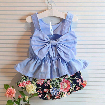 Summer Baby Girls Clothing Set Matching Crop Top And Pants Set Clothing Sets 2017 Children's Garden Store