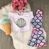 Summer Clothes For Kids T Shirt Mermaid Flared Pants Set Clothing Sets Kids Now Apparel