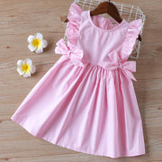 Summer Clothing For Baby Girl Ruffle Sleeve Dress Dresses Kids Now Apparel
